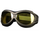 Hot Leathers Big Ben Riding Goggles w/Yellow Lenses
