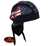 Hot Leathers American Bike Headwrap Black