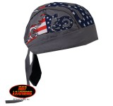 Hot Leathers American Bike Headwrap Charcoal