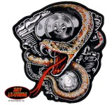 Hot Leathers Snake and Motor Patch