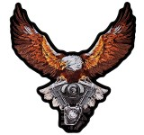 Hot Leathers Storm Clouds Eagle Patch