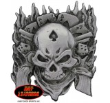 Hot Leathers Dead Man Pin
