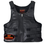 Hot Leathers Bullet Proof Style Leather Vest
