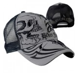 Hot Leathers Over The Top Skull Ball Cap