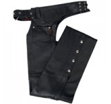 Hot Leathers Best Selling Fully Lined Unisex Leather Chaps