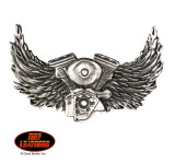 Hot Leathers Motor and Wings Pin