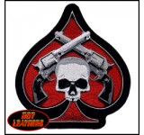 Hot Leathers Skull & Pistols Patch (Large)