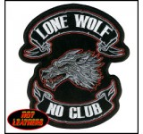 Hot Leathers Lone Wolf Embroidered Patch (Small)