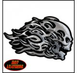Hot Leathers Head Butt Tribal Skull Patch (small)