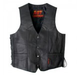 Hot Leathers Mens Heavyweight Leather Vest