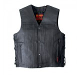Leather Vest with 2 gun pockets and lace ups