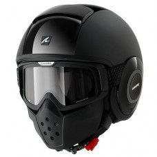 SHARK Helmet RAW DUAL BLACK Black