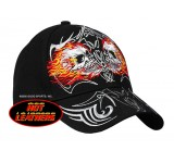 Hot Leathers Mirror Skulls Ball Cap