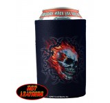 Hot Leathers Mirror Skulls Can Koozie