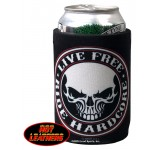Hot Leathers Stencil Skull Can Koozie